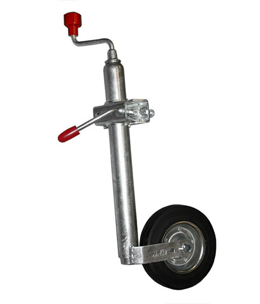 с опорным колесом и хомутом